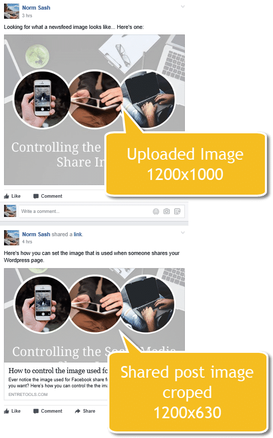 Controlling The Socialmedia Share Image Comparison